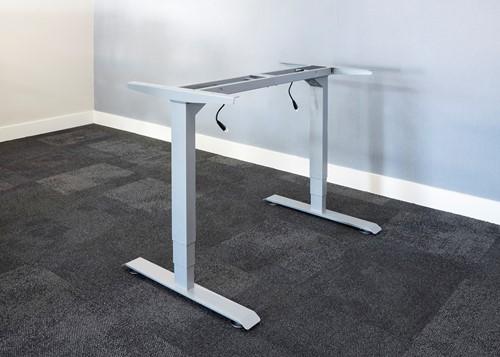 Electrisch verstelbaar bureauframe aluminium (RAL9006)