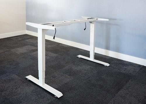Electrisch verstelbaar bureauframe wit (RAL9010)