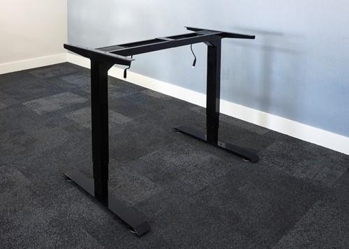 Electrisch verstelbaar bureauframe zwart (RAL9005)