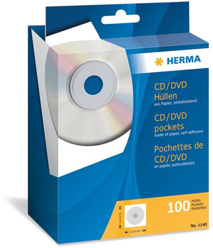Herma 1140 CD/DVD Hoezen - 100 stuks