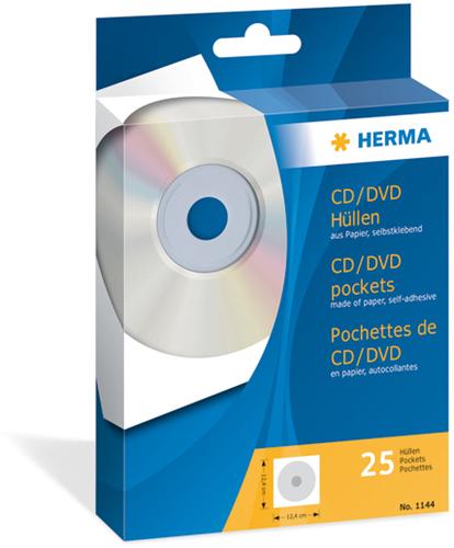 Herma 1144 CD/DVD Hoezen - 25 stuks