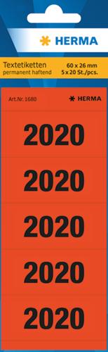Herma 1680 Jaartallen 2020 - Rood