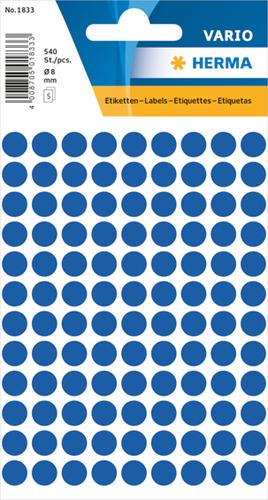 Herma 1833 Universele Etiketten Ø8 - Donkerblauw