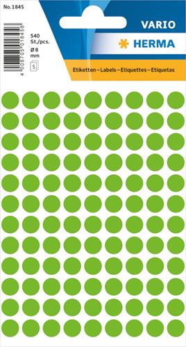 Herma 1845 Universele Etiketten Ø8 - Groen