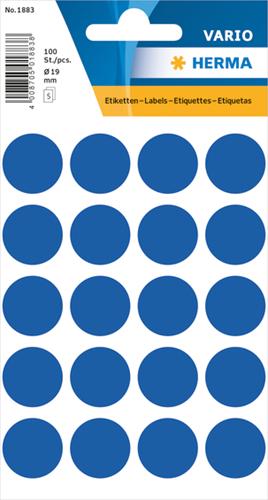 Herma 1883 Universele Etiketten Ø19 - Donkerblauw