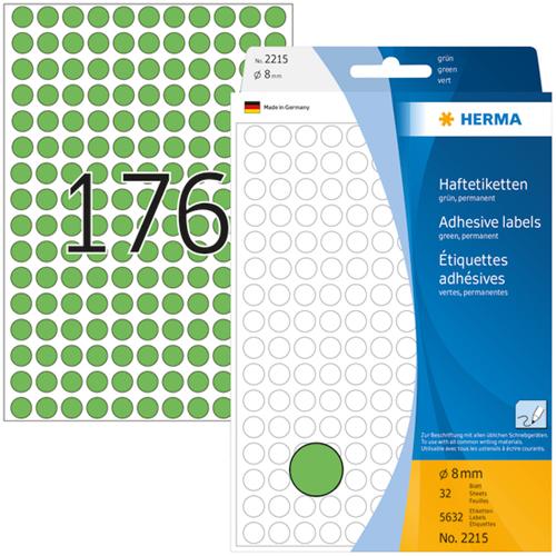 Herma 2215 Universele Etiketten Ø8 - Groen