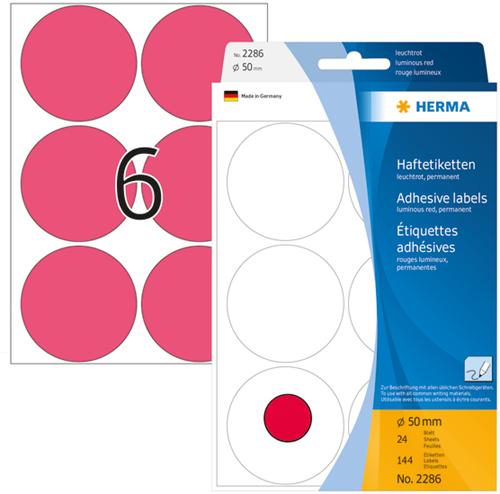 Herma 2286 Universele Etiketten Ø50 - Roze