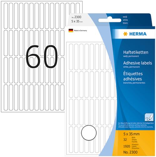 Herma 2300 Universele Etiketten 5 x 35 mm - Wit