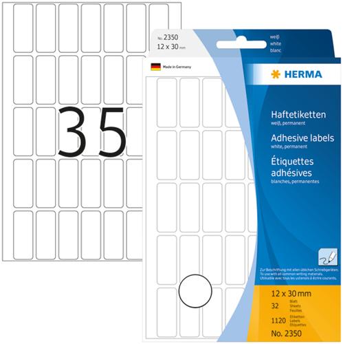 Herma 2350 Universele Etiketten 12 x 30 mm - Wit
