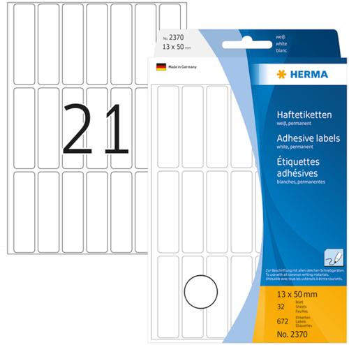 Herma 2370 Universele Etiketten 13 x 50 mm - Wit