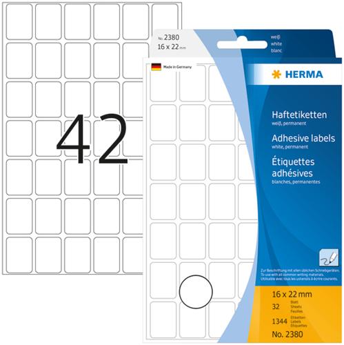 Herma 2380 Universele Etiketten 16 x 22 mm - Wit