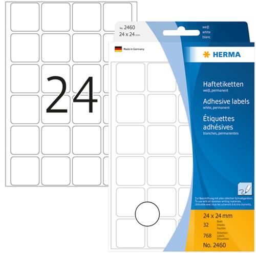 Herma 2460 Universele Etiketten 24 x 24 mm - Wit
