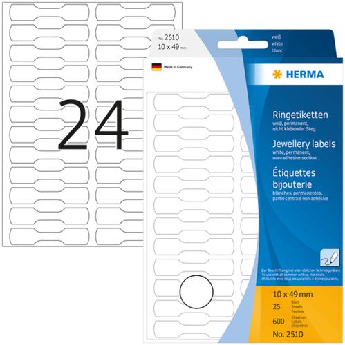 Herma 2510 Universele Etiketten 10 x 49 mm - Wit