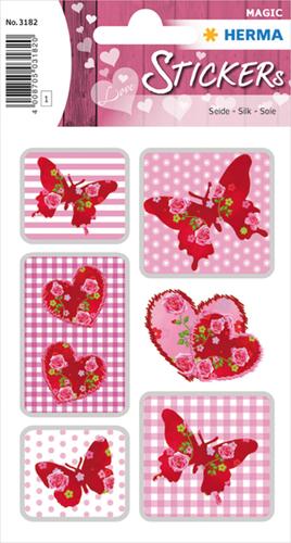 Herma 3182 Sticker Rozen Hart Zijde