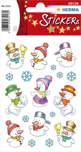 Herma 3216 Sticker Sneeuwpop