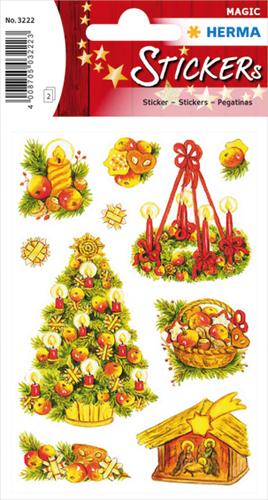 Herma 3222 Sticker Kerstsymbolen - Glitter