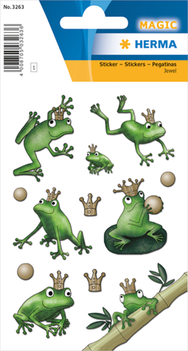 Herma 3263 Sticker Kikkerkoning