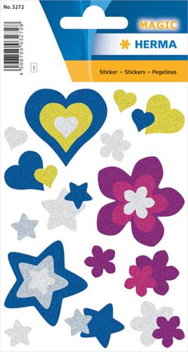 Herma 3272 Sticker Harten - Sterren - Bloemen