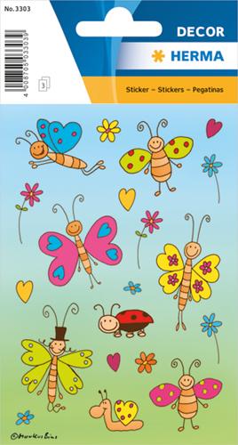 Herma 3303 Sticker Grappige Vlinders