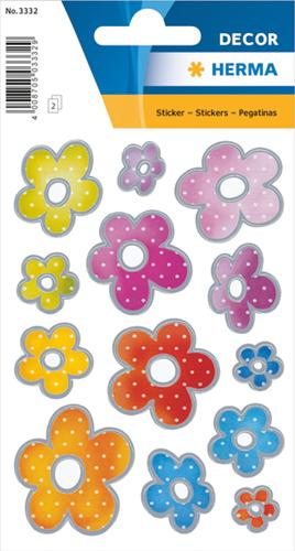 Herma 3332 Sticker Zilveren Munten Van Bloemen