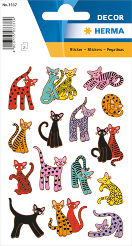 Herma 3337 Sticker Abstracte Katten
