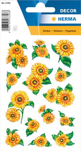 Herma 3346 Sticker Zonnebloemen