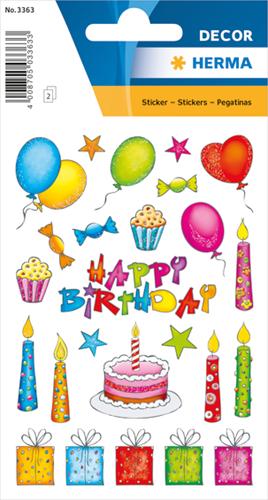 Herma 3363 Sticker Verjaardag