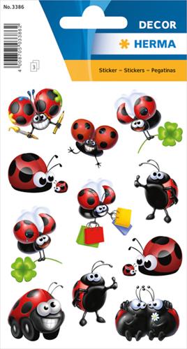 Herma 3386 Sticker Grappige Lieveheersbeestjes