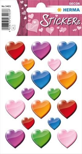 Herma 3403 Sticker Gekleurde Harten