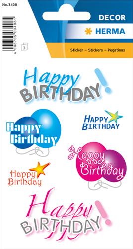Herma 3408 Sticker Fijne Verjaardag