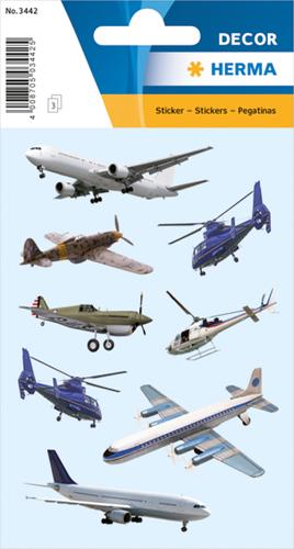 Herma 3442 Sticker Vliegtuigen