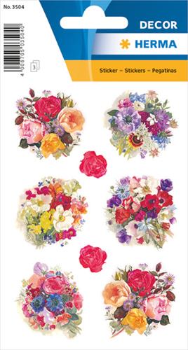 Herma 3504 Sticker Bloemenboeket