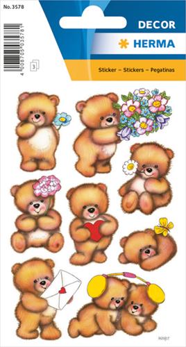Herma 3578 Sticker Beren Met Bloemen