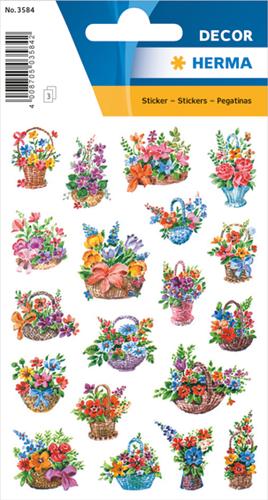 Herma 3584 Sticker Bloemen In Mandjes