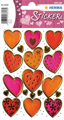 Herma 3618 Sticker Gouden Harten