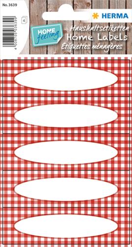 Herma 3639 Sticker Keuken Geruit