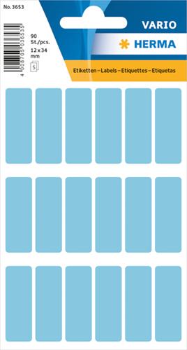 Herma 3653 Vario Universele Etiketten 12 x 34 mm - Blauw