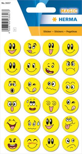 Herma 3657 Sticker Emoji's Met Wiebelogen