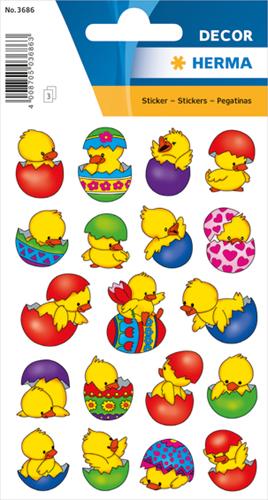 Herma 3686 Sticker Kuiken In Ei