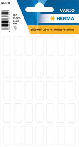 Herma 3721 Universele Etiketten 8 x 20 mm - Wit