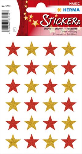 Herma 3732 Stickers Sterren - Glitter