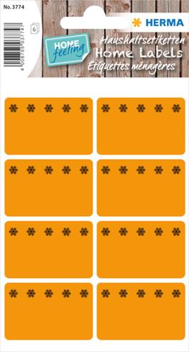 Herma 3774 Sticker Diepvries 26 x 40 mm - Oranje
