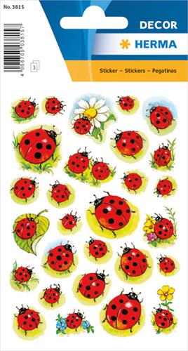 Herma 3815 Sticker Lieveheersbeestjes - Bloemen