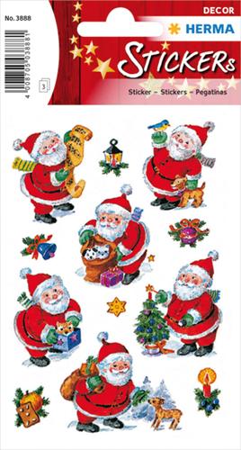 Herma 3888 Sticker Vrolijke Kerstman