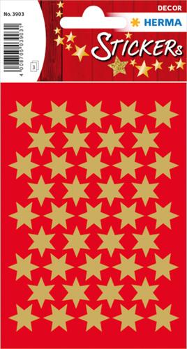 Herma 3903 Sticker Kerstster 14 mm - Goud
