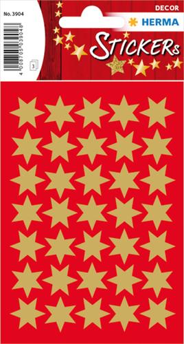Herma 3904 Sticker Kerstster 16 mm - Goud