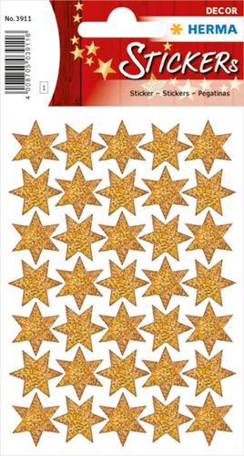 Herma 3911 Sticker Kerstster I - Goud