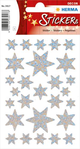 Herma 3917 Sticker Kerstster Irisfolie - Zilver
