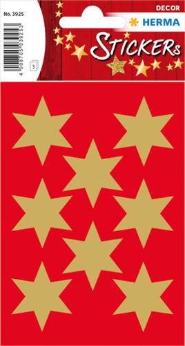 Herma 3925 Sticker Kerstster 33 mm - Goud