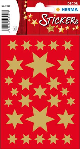 Herma 3927 Sticker Kerstster - Goud